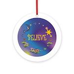 Believe (round) Keepsake Ornament