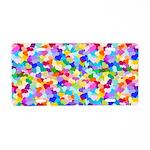 Rainbow Confetti Hearts Aluminum License Plate