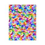 Rainbow Confetti Hearts Twin Duvet