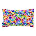 Rainbow Confetti Hearts Pillow Case