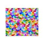 Rainbow Confetti Hearts Throw Blanket