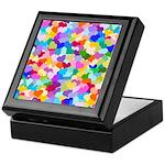 Rainbow Confetti Hearts Keepsake Box