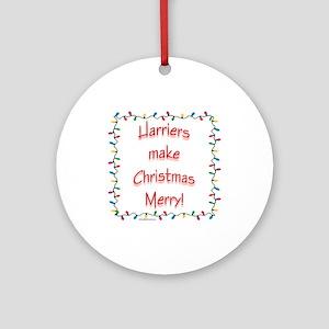 Merry Harrier Ornament (Round)