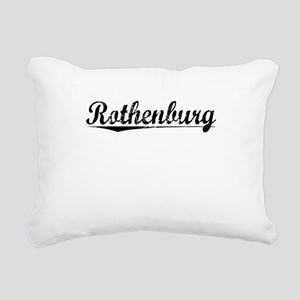 Rothenburg, Aged, Rectangular Canvas Pillow