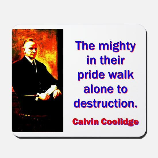 The Mighty In Their Pride - Calvin Coolidge Mousep