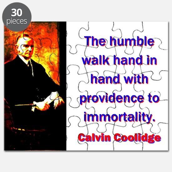 The Humble Walk - Calvin Coolidge Puzzle