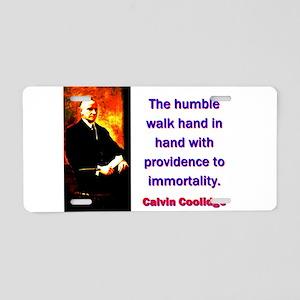 The Humble Walk - Calvin Coolidge Aluminum License