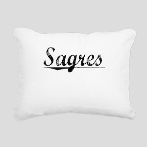Sagres, Aged, Rectangular Canvas Pillow