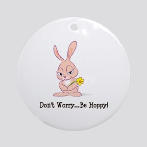 Be Hoppy Bunny Ornament (Round)