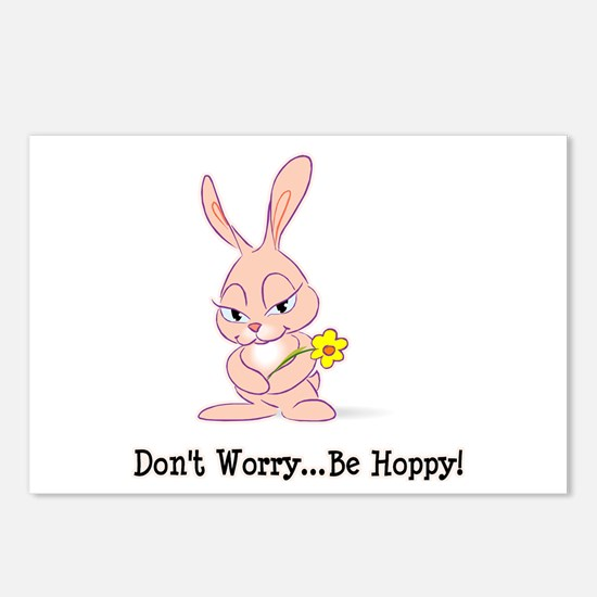 Be Hoppy Bunny Postcards (Package of 8)