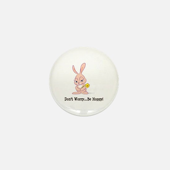 Be Hoppy Bunny Mini Button