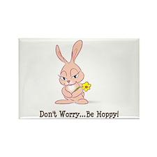 Be Hoppy Bunny Rectangle Magnet