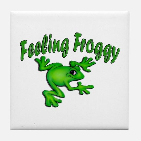 Feeling Froggy Tile Coaster