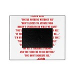 God quotes Picture Frame