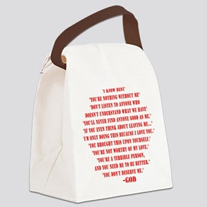 God quotes Canvas Lunch Bag