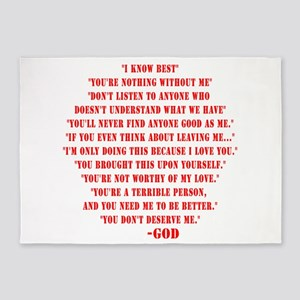 God quotes 5'x7'Area Rug