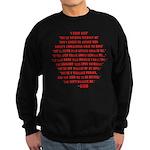 God quotes Sweatshirt (dark)