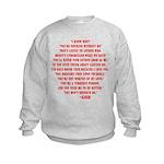 God quotes Kids Sweatshirt