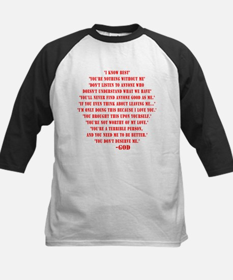 God quotes Kids Baseball Jersey