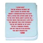God quotes baby blanket