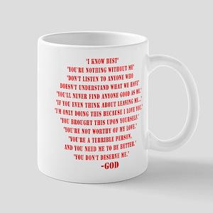 God quotes Mug