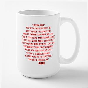 God quotes Large Mug