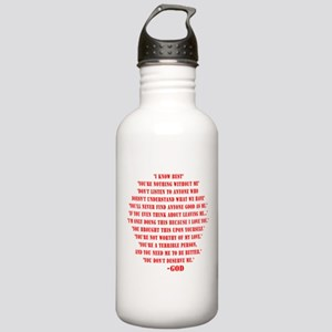 God quotes Stainless Water Bottle 1.0L