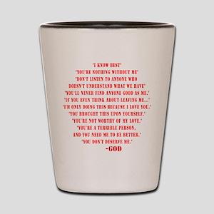 God quotes Shot Glass