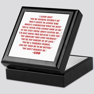 God quotes Keepsake Box