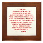 God quotes Framed Tile