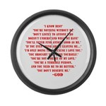 God quotes Large Wall Clock