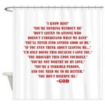 God quotes Shower Curtain