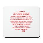 God quotes Mousepad