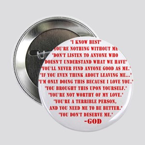 """God quotes 2.25"""" Button"""