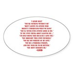 God quotes Sticker (Oval 10 pk)