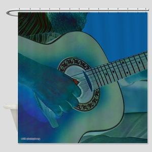 Acoustic Riffs Shower Curtain