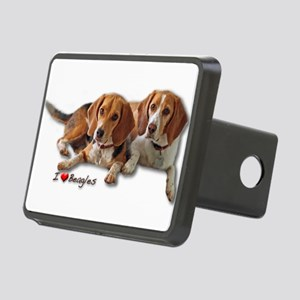 Two Beagles Rectangular Hitch Cover