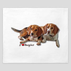Two Beagles King Duvet