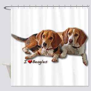 Two Beagles Shower Curtain