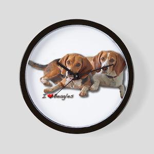 Two Beagles Wall Clock