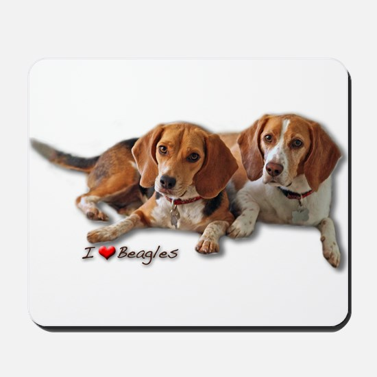 Two Beagles Mousepad