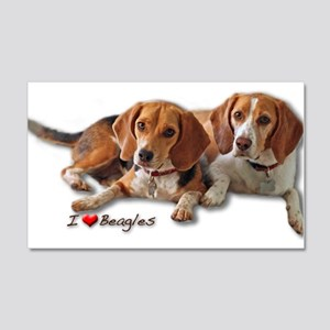 Two Beagles 20x12 Wall Decal