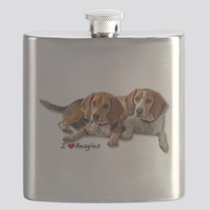 Two Beagles Flask