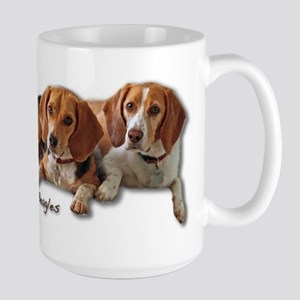 Two Beagles Large Mug