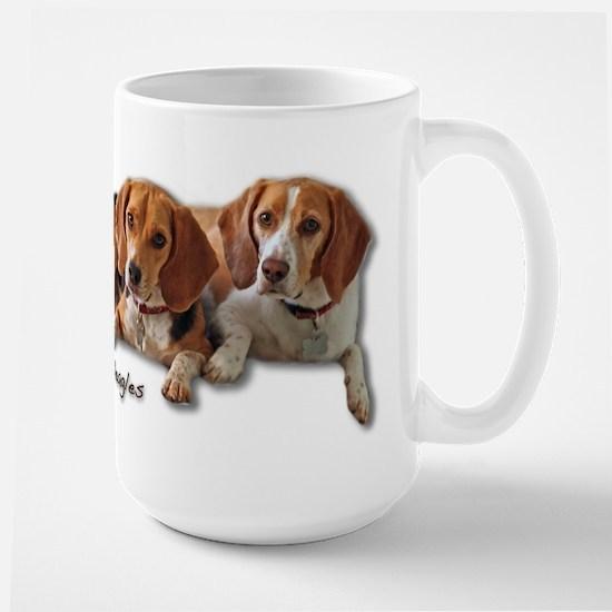 Two Beagles Large Mug