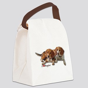 Two Beagles Canvas Lunch Bag