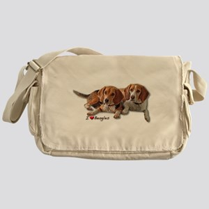 Two Beagles Messenger Bag