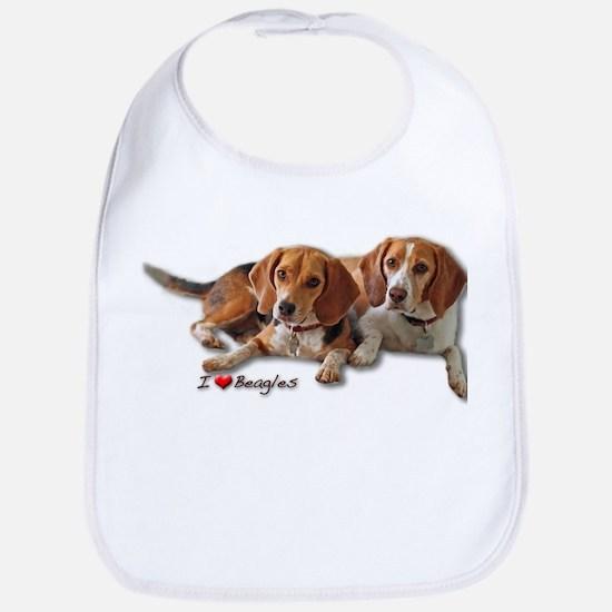 Two Beagles Bib