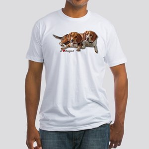 Two Beagles Fitted T-Shirt