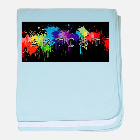 srtist paint platter baby blanket